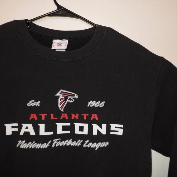 premium selection b8db5 7fc6e Atlanta Falcons Sweater NFL Black Sweatshirt Crew